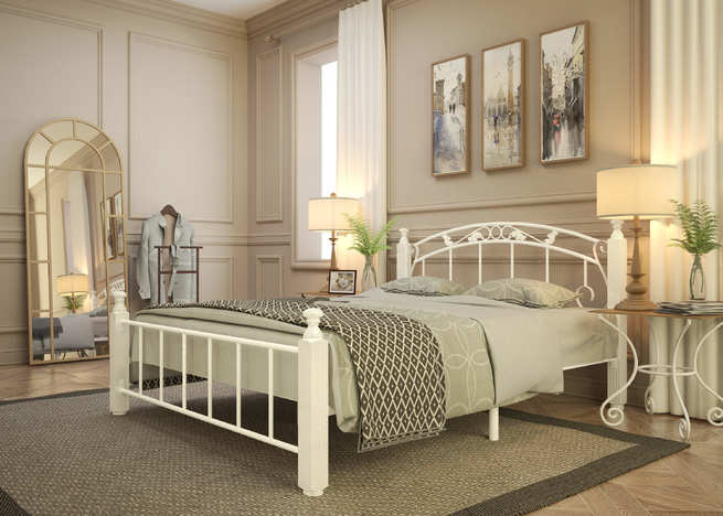 Кровать кованая Гарда 5 венге