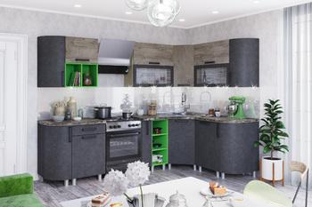 Модульная кухня угловая Крафт бетон-дуб эндгрейн