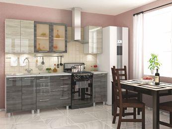 Кухня Танго модульная дуб шале светлый-серебро